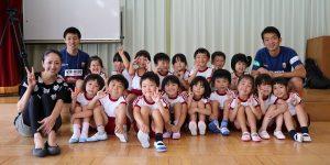 【大分市 プロスポーツふれあい促進事業】金池幼稚園を訪問しました!